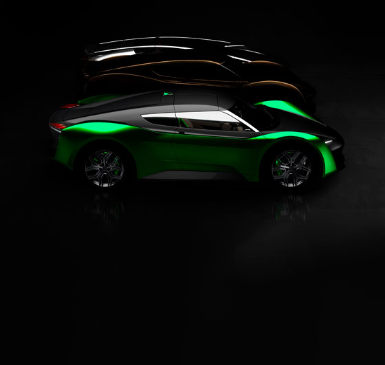 3 GFG Style concept cars unveiled in live streaming press conference